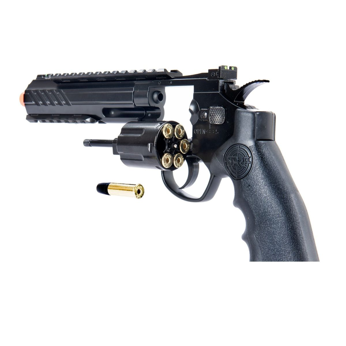 SRC 6 INCH TITAN FULL METAL CO2 AIRSOFT REVOLVER shell