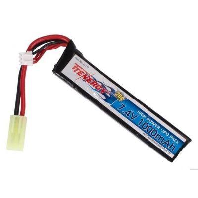 Tenergy LIPO Lithium Polymer LiPo 7.4V 1000mAh 20C Stick Battery Airsoft