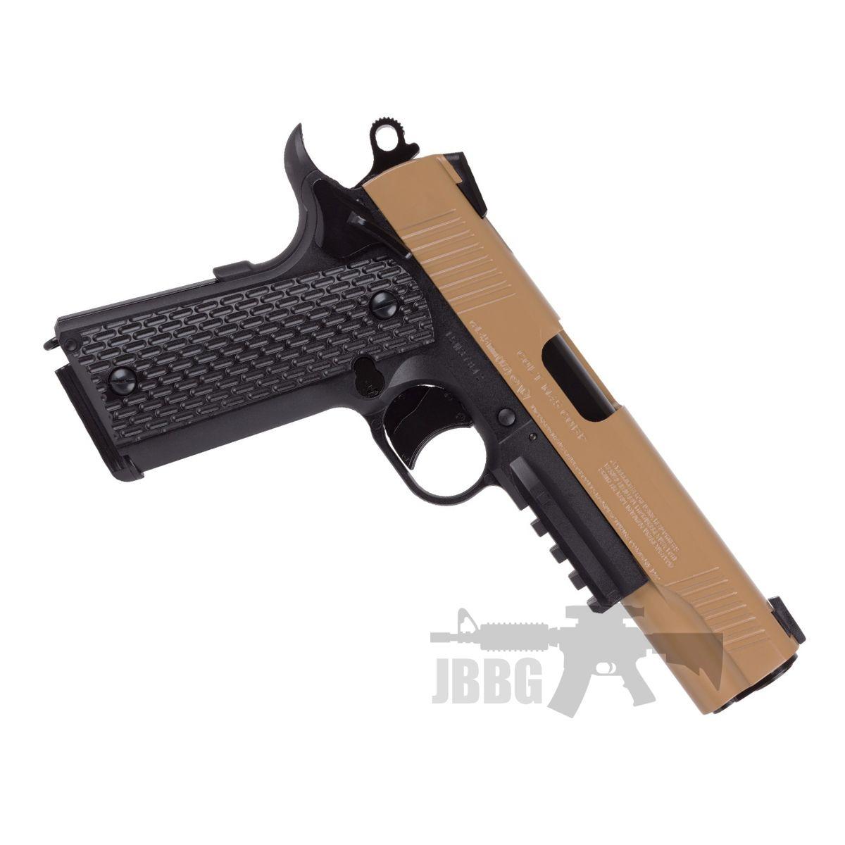 Colt M45 Cqbp Metal Slide Air Pistol .177 Bb Tan