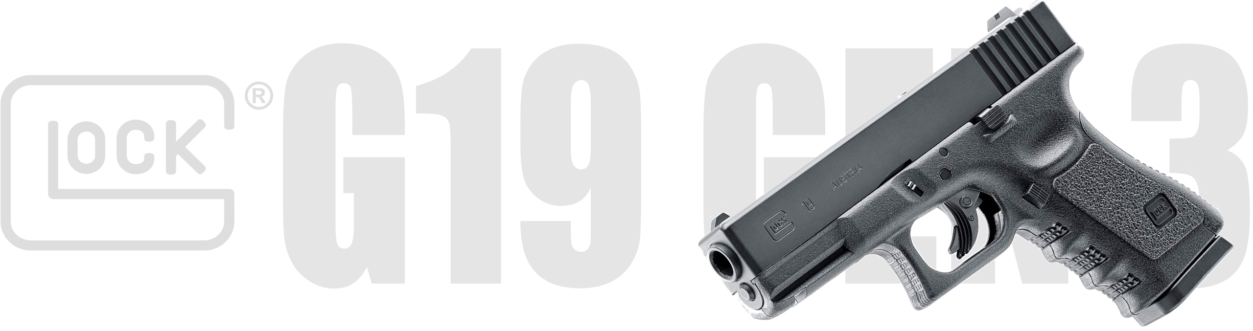Glock G19 Gen 3 .177 Co2 NBB Airgun Pistol 4.5MM Steel BB