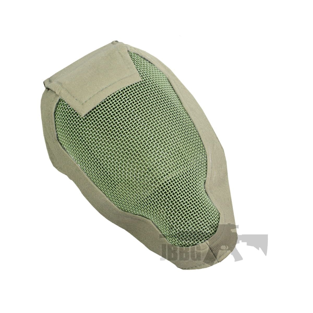 FULL FACE PROTECTION GREEN AIRSOFT PRO MESH SAFETY MASK FOR CLEAR VISION