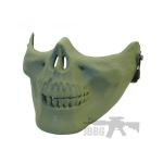 green skull face mask 445