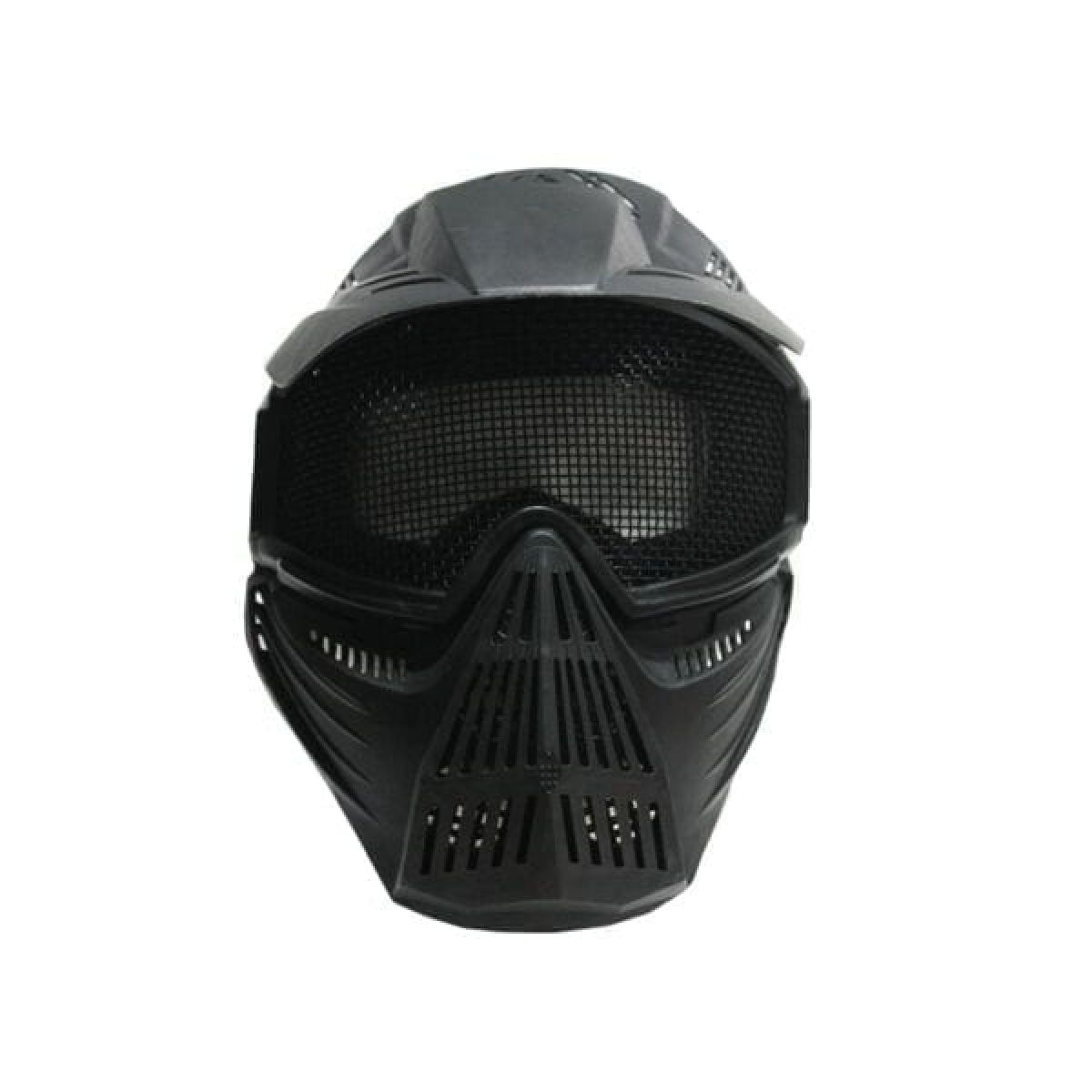 FULL FACE PROTECTION BLACK AIRSOFT PRO