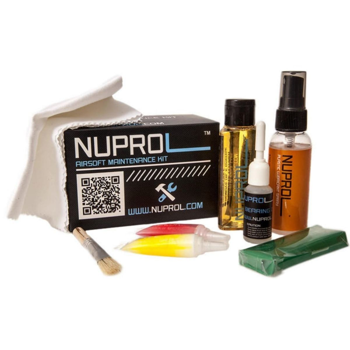 NUPROL Maintenance KIT for all Airsoft Guns and Pistols Oil Clean Kit Pack rifle