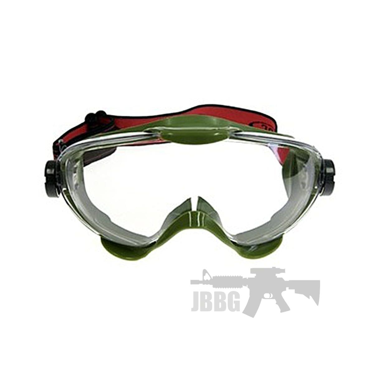 airsoft goggles green