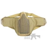 airsoft lower face mask tan helmet accessory mesh