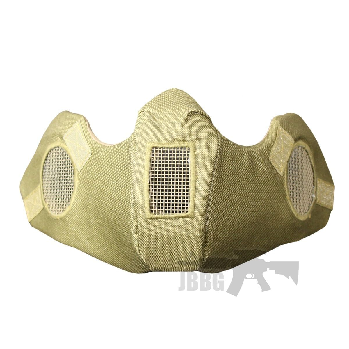 AIRSOFT LOWER FACE MASK TAN helmet accessory attachment