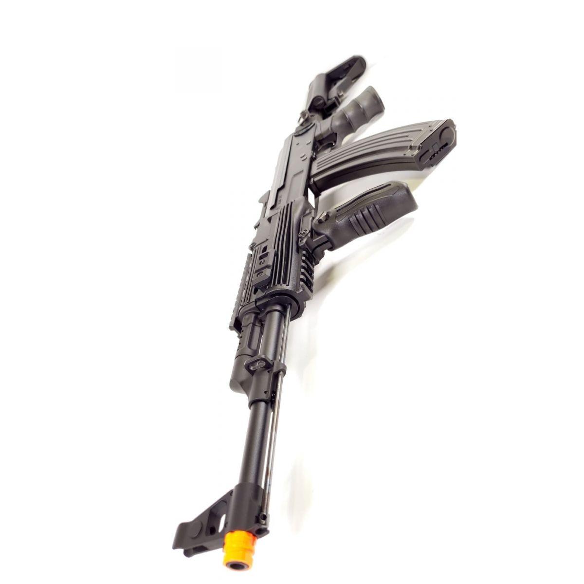 SR-TAC FULL METAL AK47 AEG Electric Airsoft Rifle BLACK