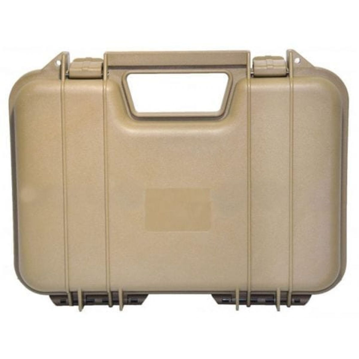 Single Pistol Case Secure Premium Hard Plastic Gun Case tan