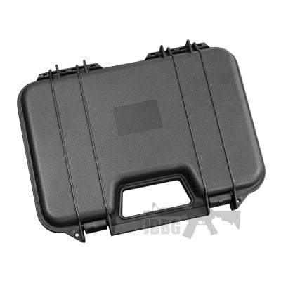 Single Pistol Case – Secure Premium Hard Plastic Gun Case – Black