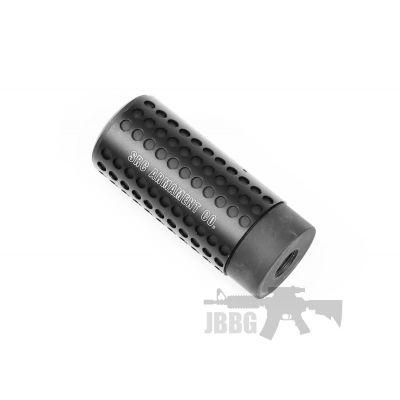 Src Small 3.5 Inches Metal Barrel Aeg Extension Silencer Suppressor 14mm Ccw Threaded