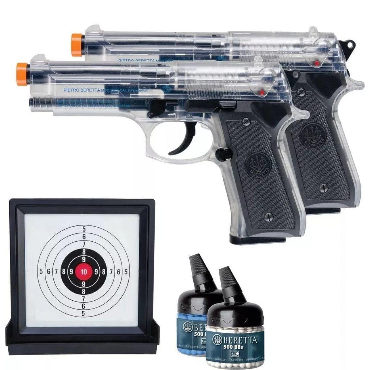 AirSoft Beretta Kit of 2 Spring Pistol 92FS Guns hand guns