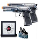 AirSoft Beretta Kit of 2 Spring Pistol 92FS Guns