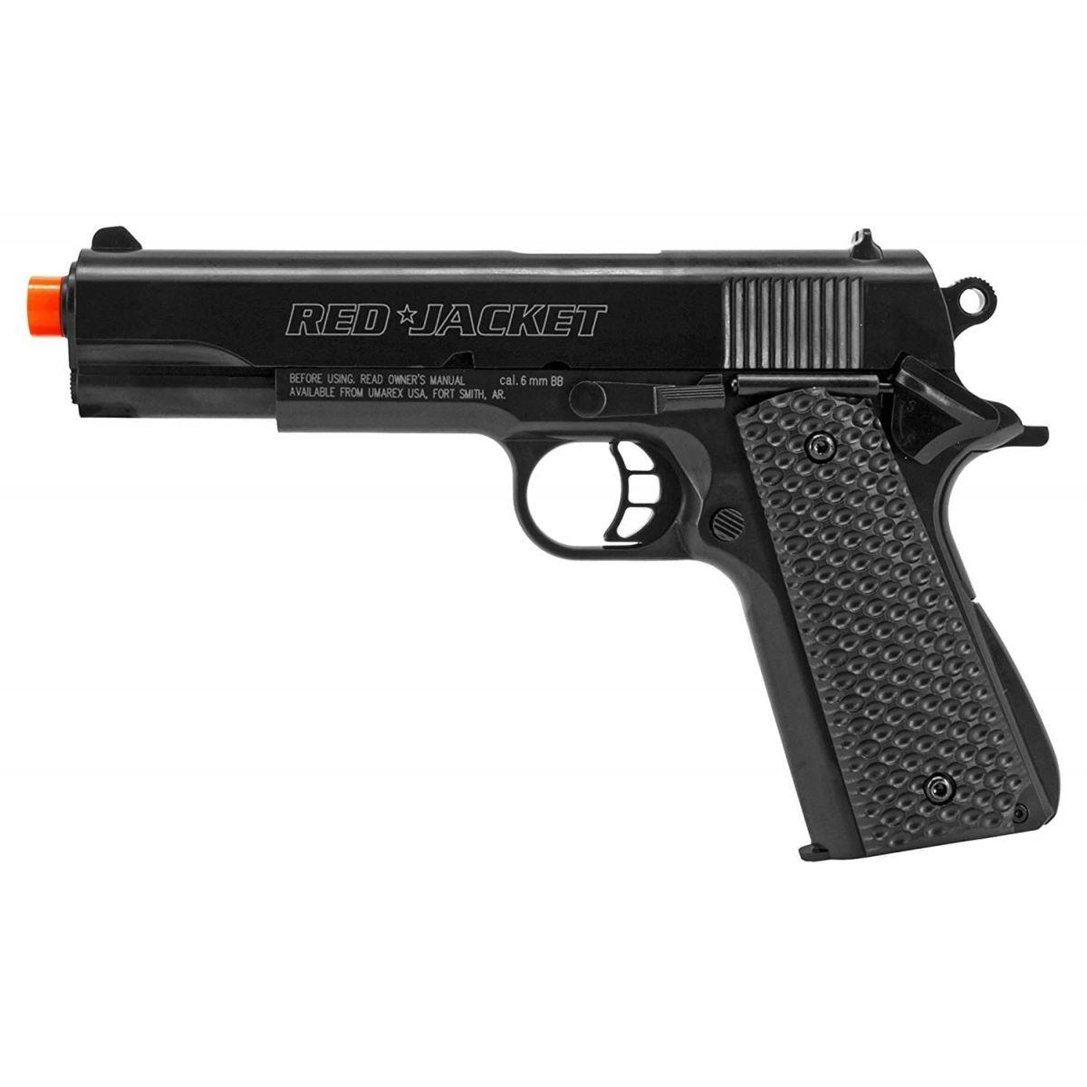 Umarex Red Jacket M1911 6mm Airsoft Spring Pistol Target Pack starter