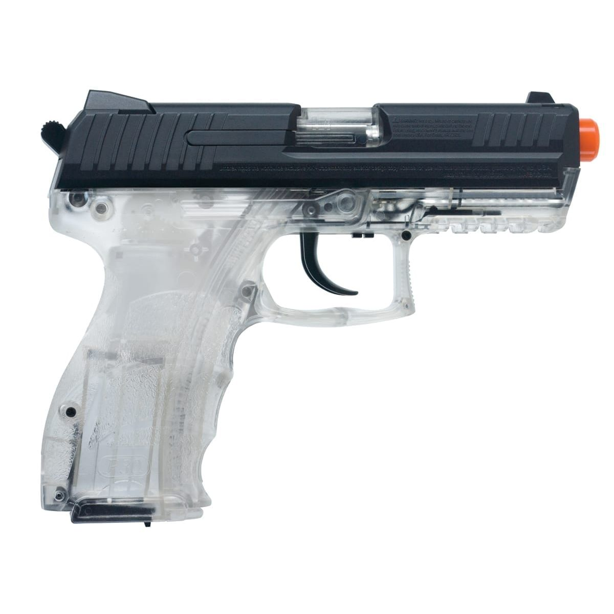 Heckler And Koch Clear P30 Spring W Metal Slide Airsoft Gun