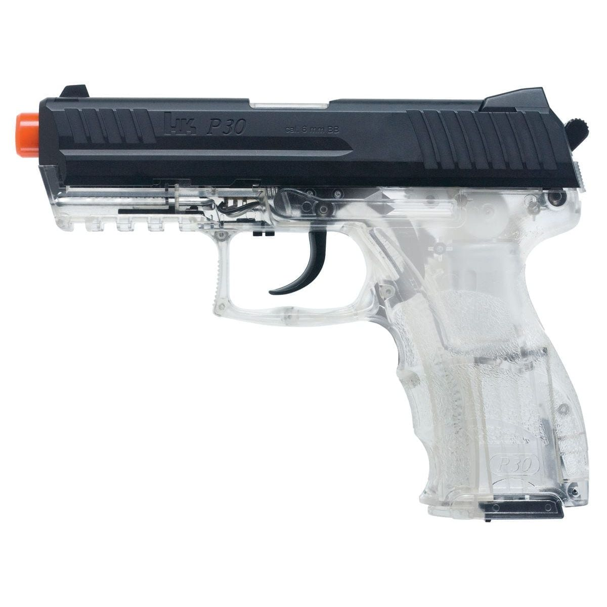 Heckler And Koch Clear P30 Spring Metal Slide Airsoft Gun