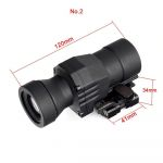 Magnifier Scope 3x Red Dot Sight Tactical for Airsoft Gun with Quick Release Flip up fits 20mm picatinny rail 2
