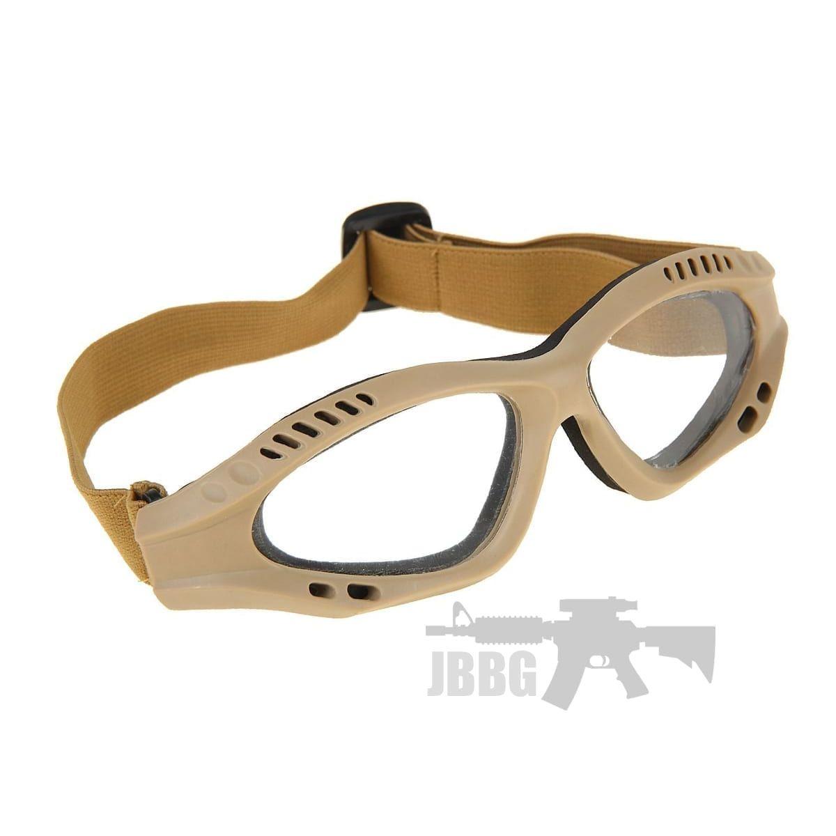 tan goggles