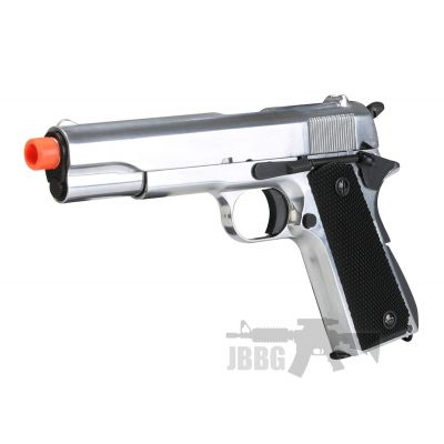 SR1911 Gas Blowback Full Metal Silver Airsoft Pistol – 6MM