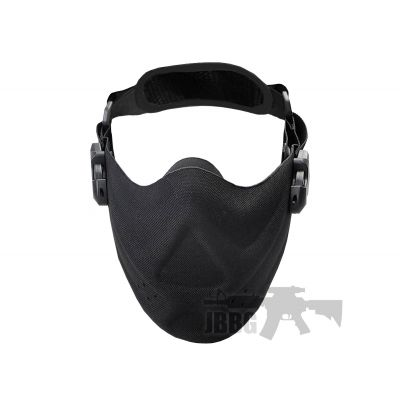High Speed Lightweight Airsoft Half Face Mask – Black
