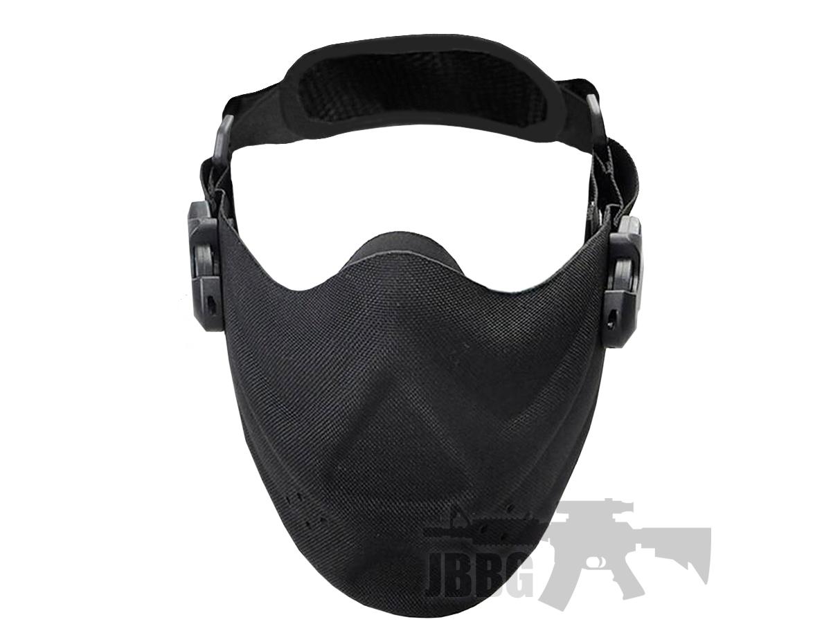 High Speed Lightweight Airsoft Half Face Mask – Black
