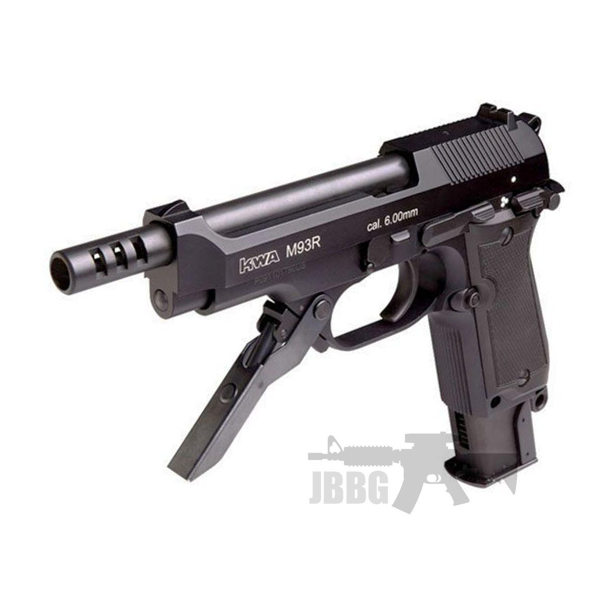 KWA M93R II NS2 Airsoft Pistol Gas Blowback – Semi / 3 Rounds Burst