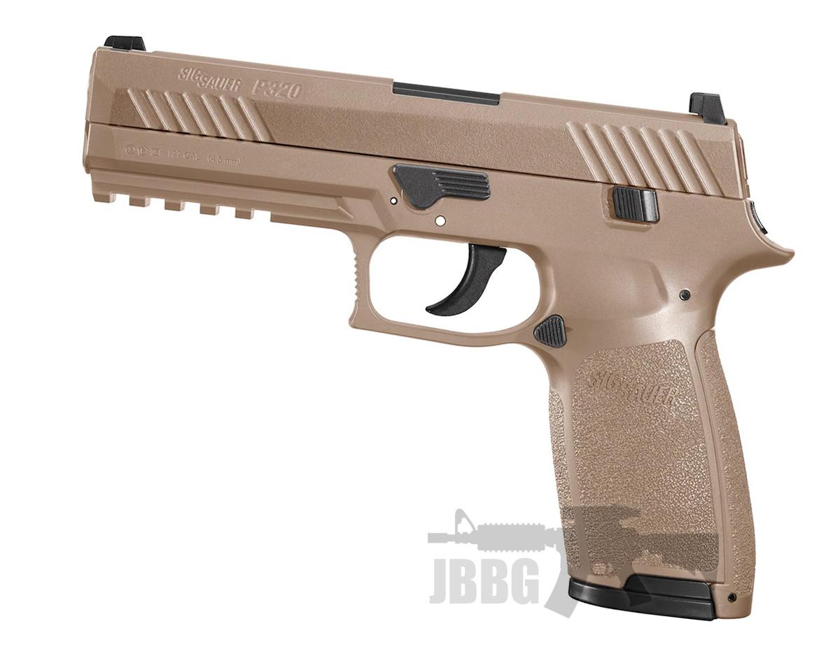 sig sauer p320 pellet air pistol cayote tan