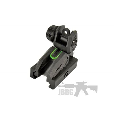 SRC Fiber Optic Flip Up Rear Sight 20mm