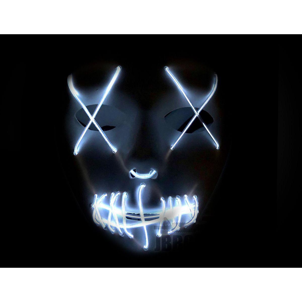 LED Purge White Mask with Blue X