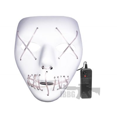 LED Purge White Mask with Blue X