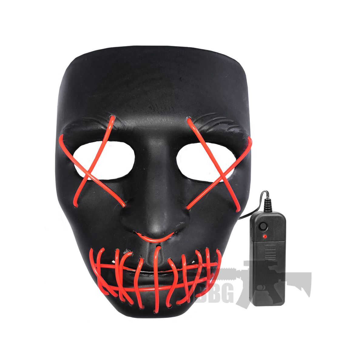 LED Purge Mask Black with Red X