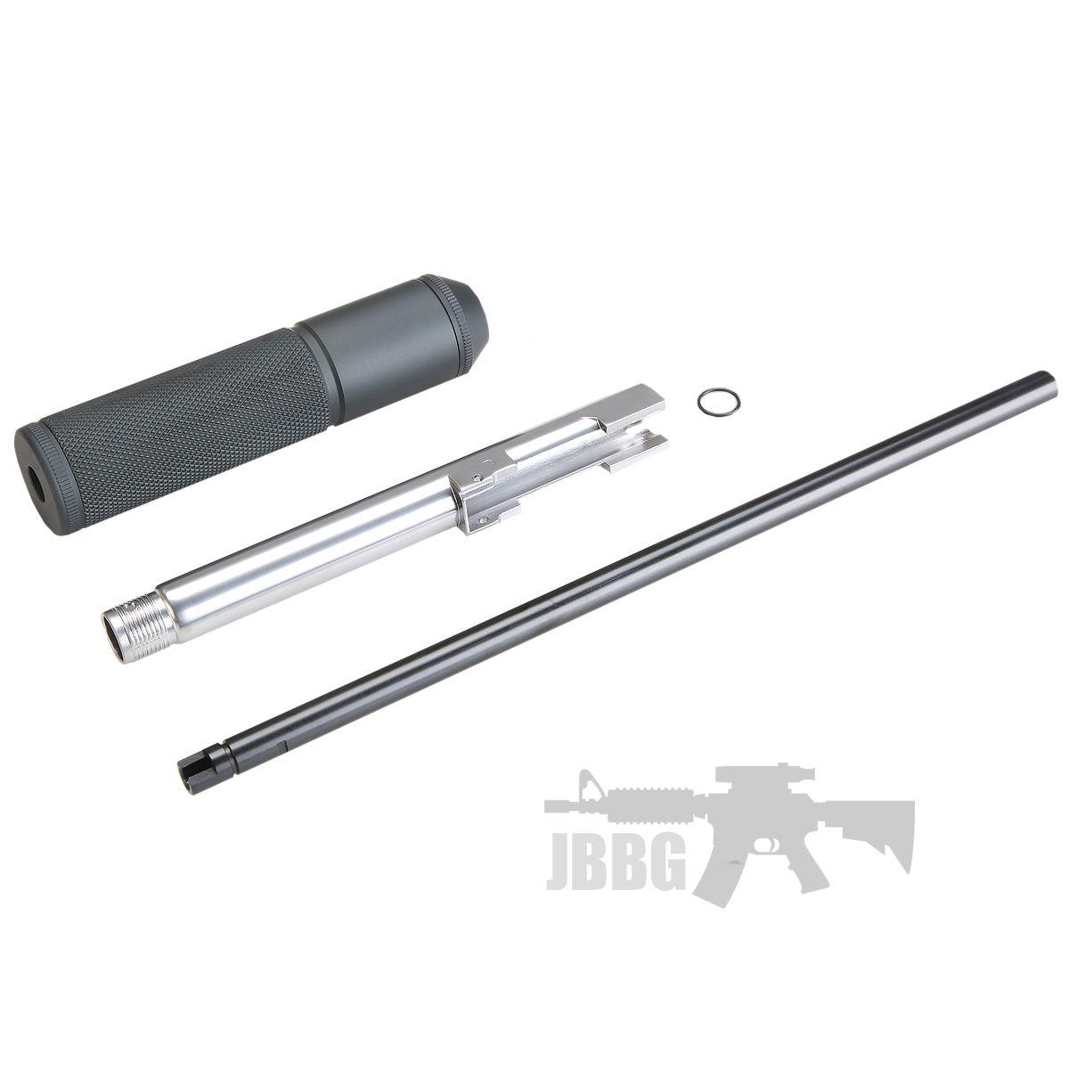 KLI Silver Extended Barrel Plus Inner Barrel and Silencer