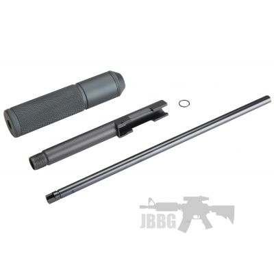 KLI Black Extended Barrel Plus Inner Barrel and Silencer