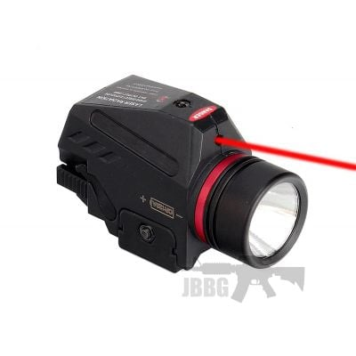 Tactical LED Weapon Gen Light Flashlight Red Dot Laser Sight