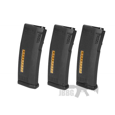KWA MS120c Adjustable ERG/AEG2.5/AEG3 Mid-Cap Magazines – 3 Pack