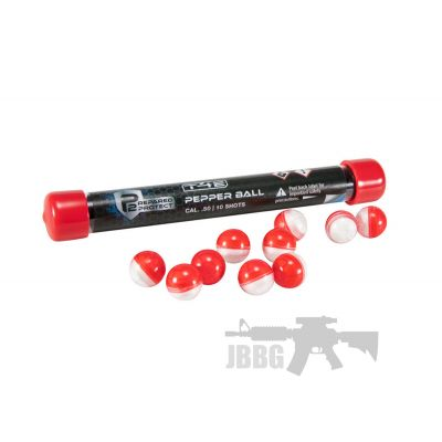 T4E P2 P Pepper Rounds .50 Cal Red/white 10 CT