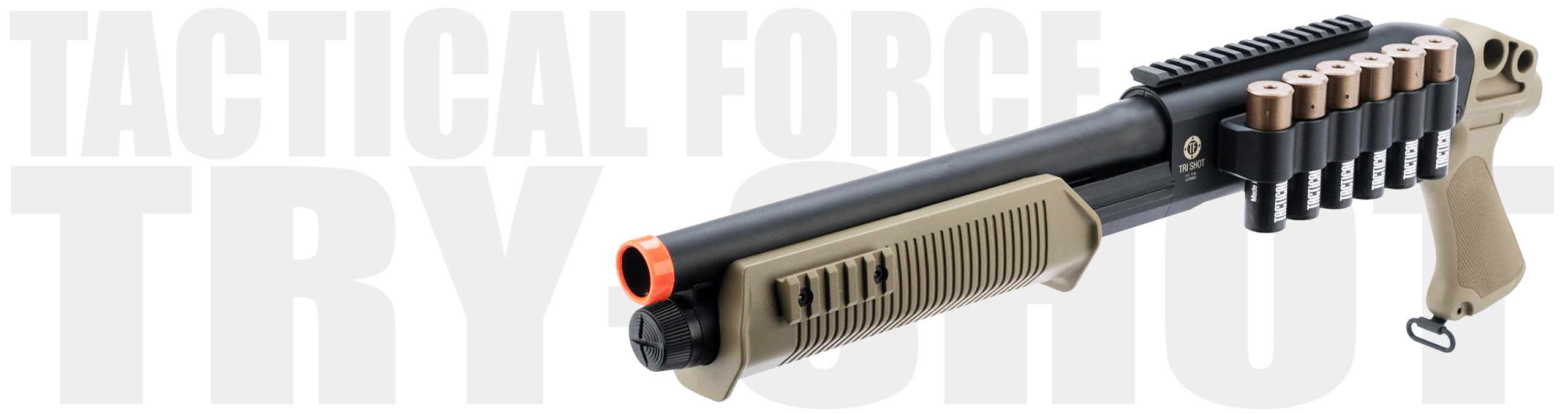 Tactical Force Tri-Shot Airsoft Shotgun 6mm