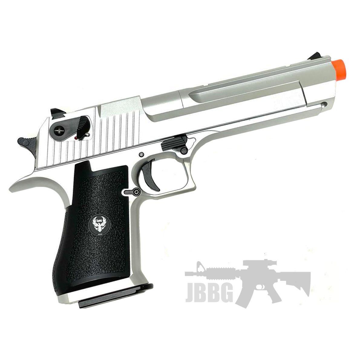 HFC HG195 Desert Eagle Gas Powered Blowback Airsoft Pistol Silver